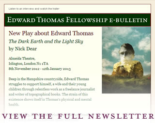 Edward Thomas Fellowship email newsletter