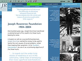 Joseph Rowntree Foundation Centenary website