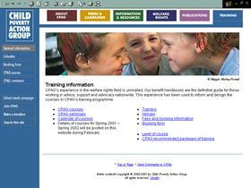 Child Poverty Action Group website