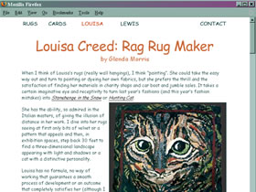 Louisa Creed Ragrugs website